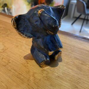 blå bronze elefant